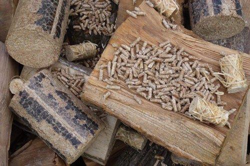 Biomass wood heating