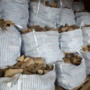 Bags of Hardwood Logs